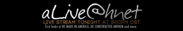 Livestream tonight - 8pm Central